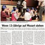AZ 13032015 - Wenn 13-Jährige auf Mozart stehen